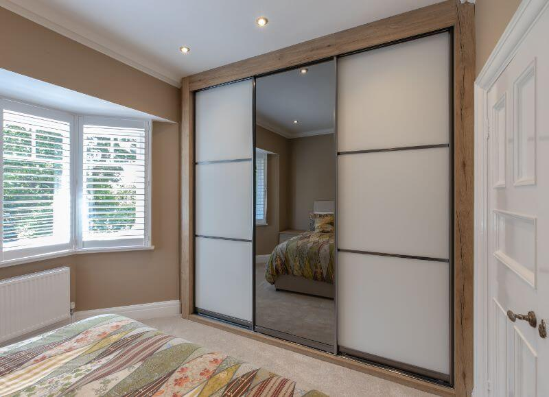 One of our quality sliding door wardrobes in Poole.